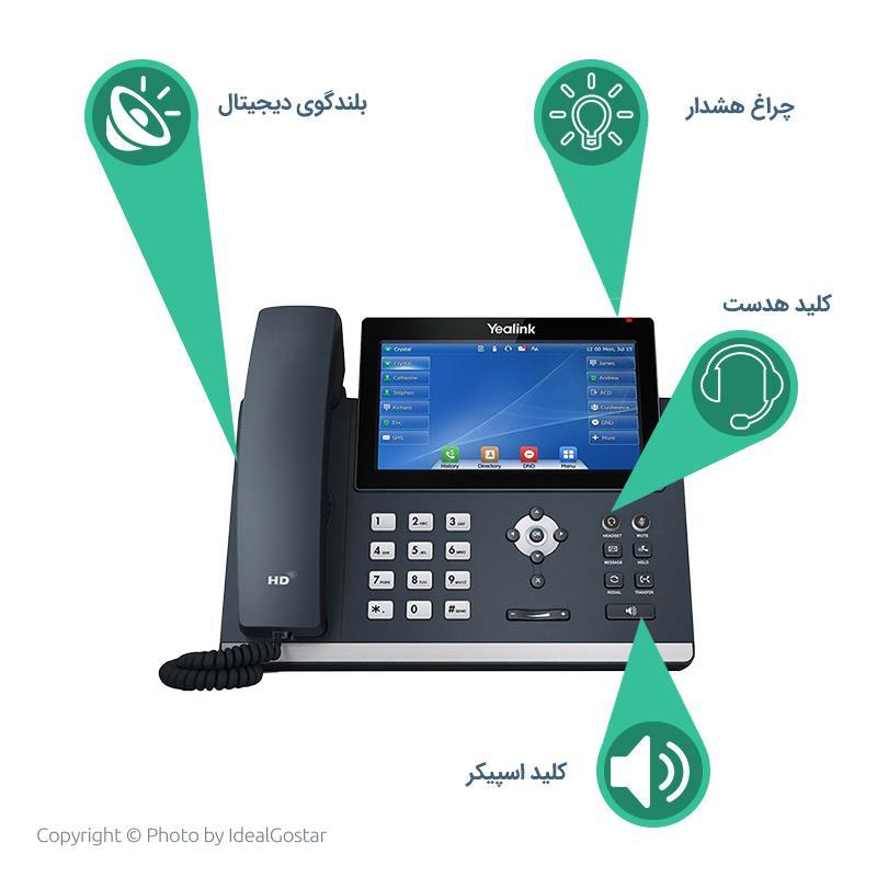 ویژگیهای تلفن تحت شبکه یالینک  SIP T48U