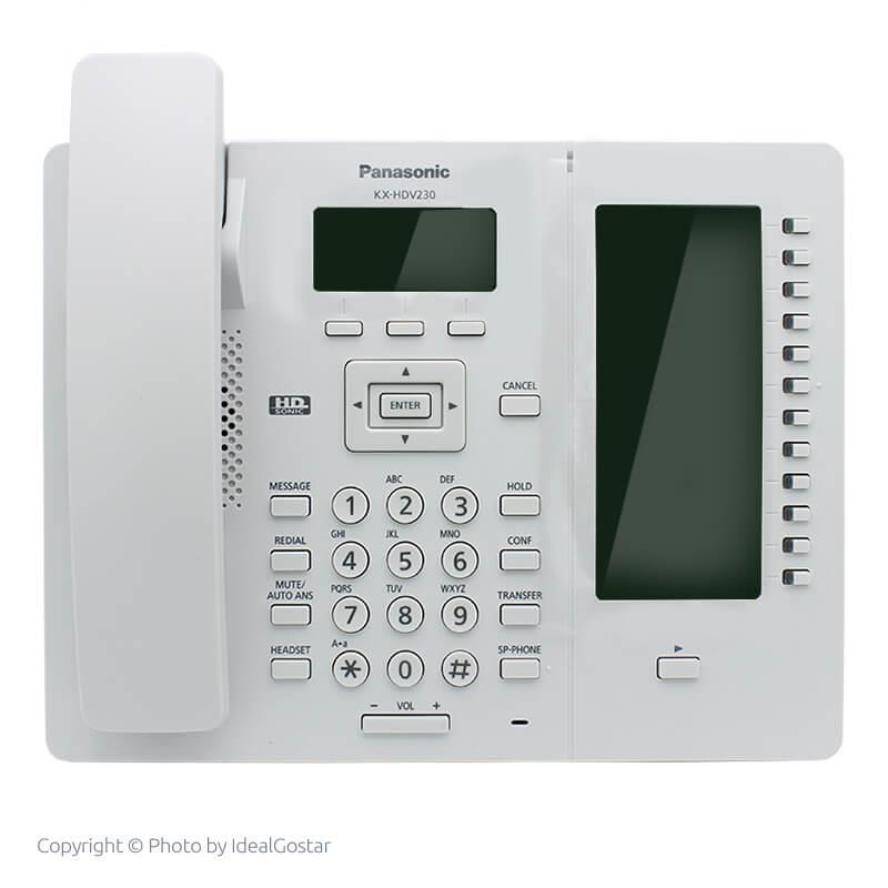 تلفن سانترال تحت شبکه پاناسونیک KX-HDV230 سفید رنگ