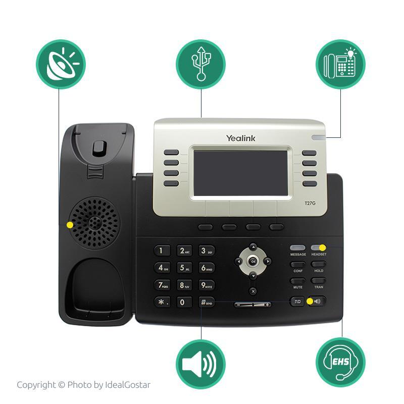 ویژگیهای تلفن تحت شبکه یالینک SIP-T27G