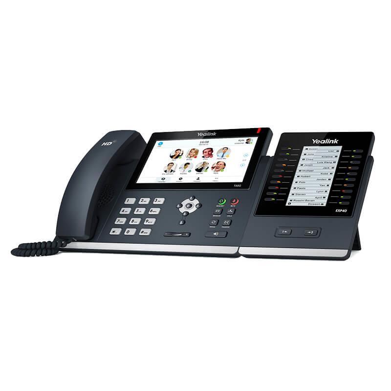 گوشی تلفن تحت شبکه یالینک SIP-T48G به همراه دستگاه EXP40