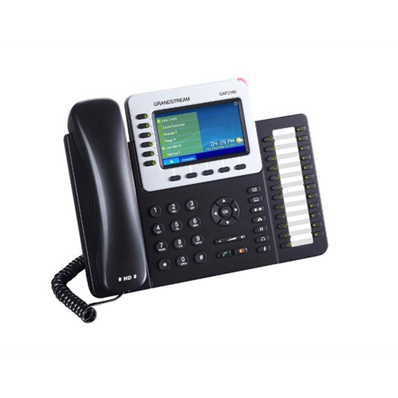 تصویر کنار تلفن تحت شبکه گرنداستریم GXP2160 در حالت روشن