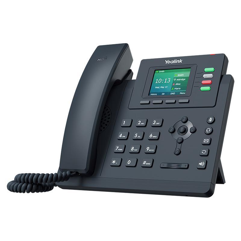 تصویر تلفن تحت شبکه یالینک SIP-T33P از کنار