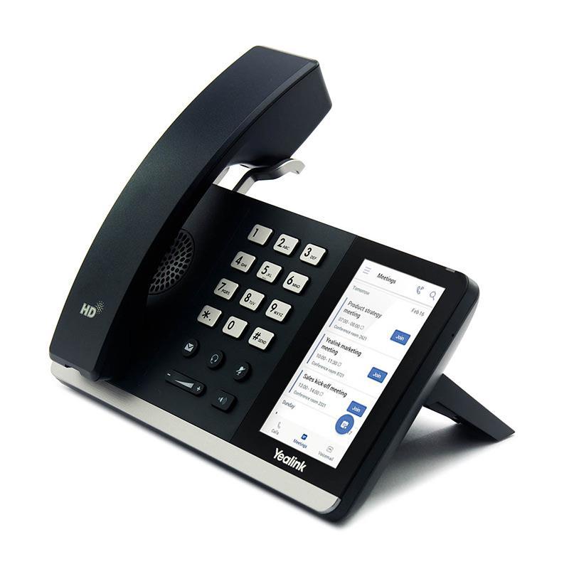تصویر تلفن تحت شبکه یالینک SIP-T55A از کنار