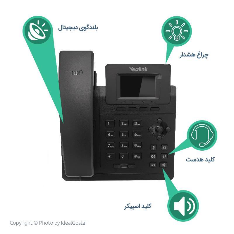 آیکون های  تلفن تحت شبکه یالینک SIP-T30P