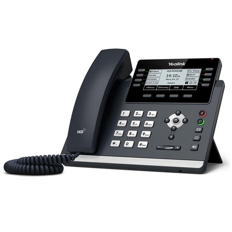 تصویر تلفن تحت شبکه یالینک SIP-T43U از سمت راست