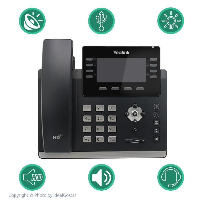 ویژگیهای تلفن تحت شبکه یالینک SIP-T43U