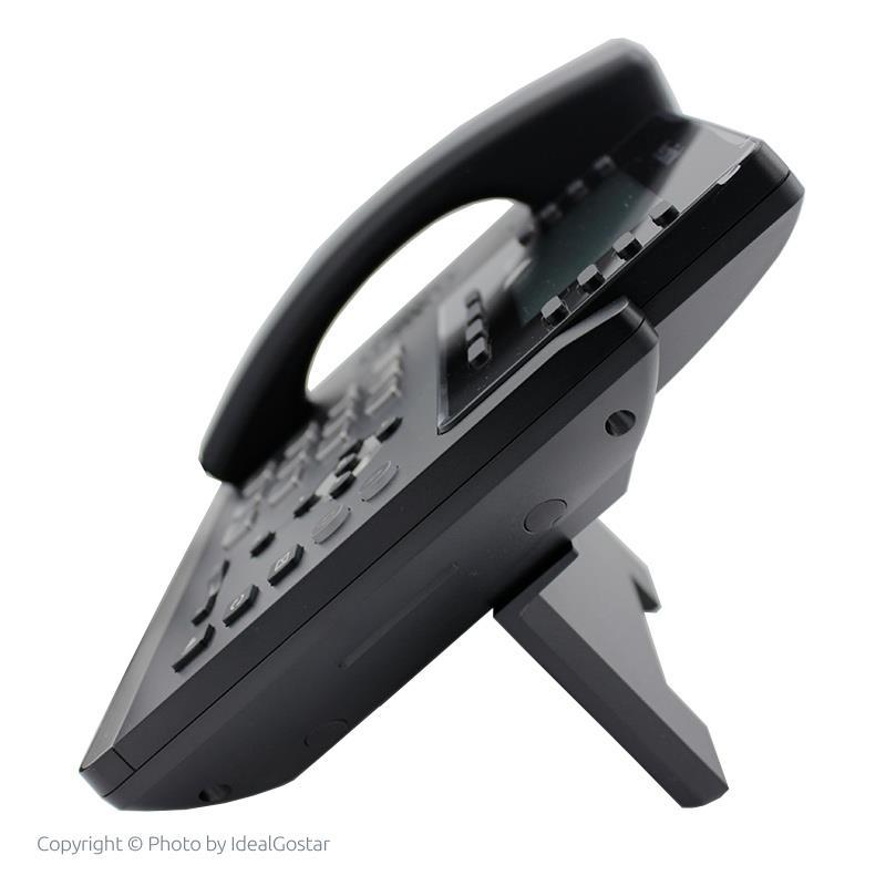 تصویر تلفن تحت شبکه یالینک SIP-T43U از بغل