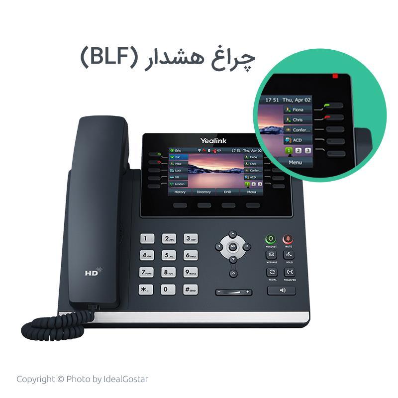 چراغ هشدار تماس تلفن تحت شبکه یالینک SIP-T46U