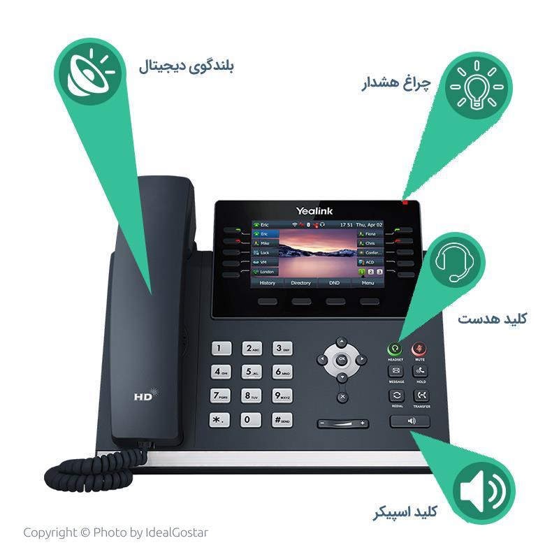 دکمه های  تلفن تحت شبکه یالینک SIP-T46U