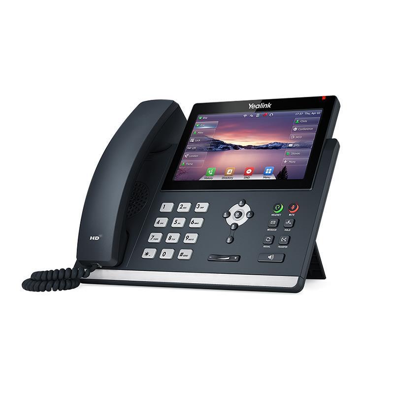 تصویر تلفن تحت شبکه یالینک  از کنار SIP T48U