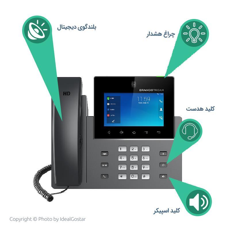 آیتم های تلفن تحت شبکه گرنداستریم مدل GXV3350
