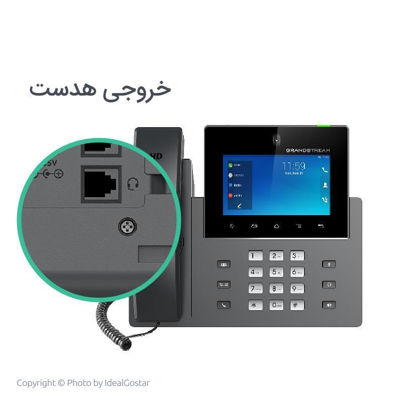 خروجی هدست تلفن تحت شبکه گرنداستریم مدل GXV3350