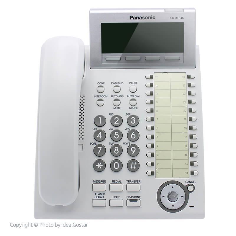 گوشی تلفن سانترال پاناسونیک KX-DT346 در حالت خاموش