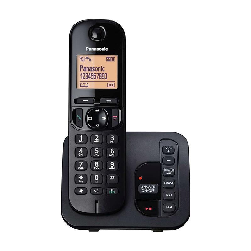 تلفن بیسیم پاناسونیک KX-TGC220 مشکی رنگ در حالت روشن