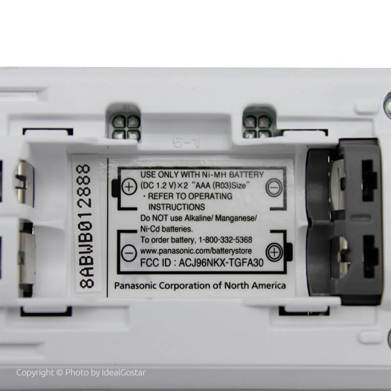 محل باتری گوشی تلفن بیسیم پاناسونیک KX-TGF350