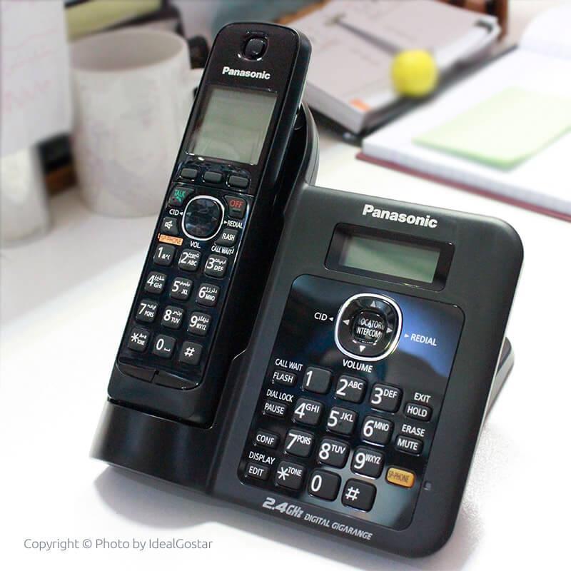 تلفن بی سیم پاناسونیک KX-TG3811 روی میز