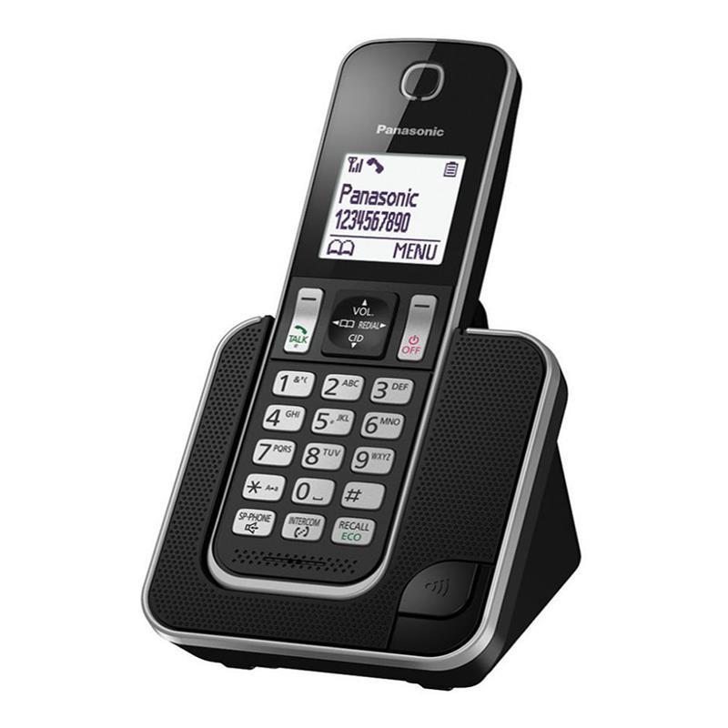 گوشی تلفن بیسیم پاناسونیک KX-TGD310 در حالت روشن