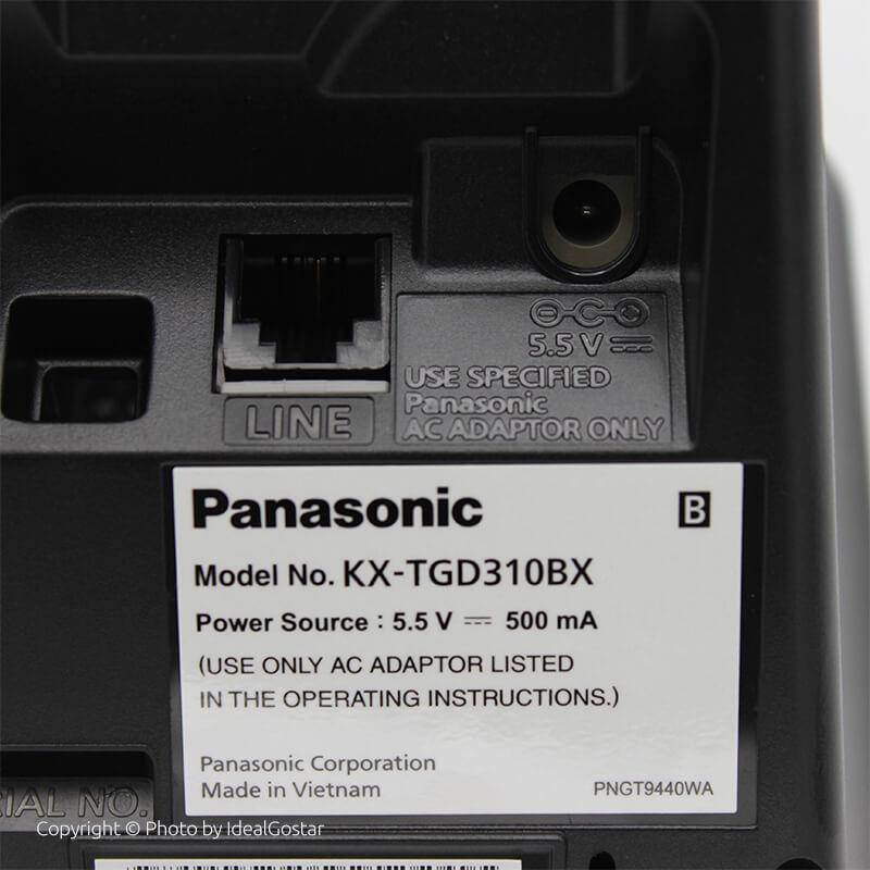 تصویر پشت گوشی تلفن بیسیم پاناسونیک KX-TGD310