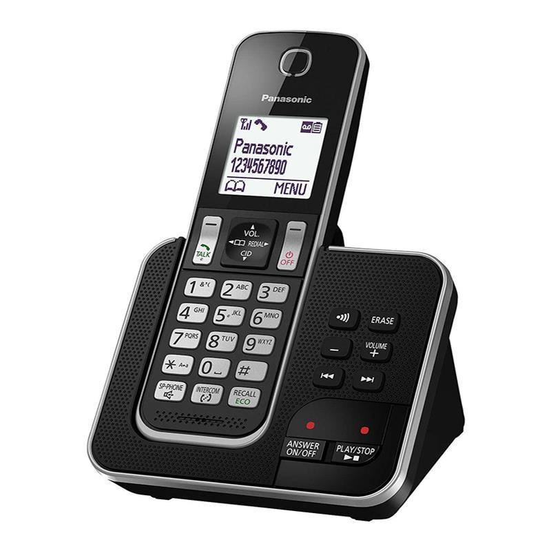 گوشی تلفن بی سیم پاناسونیک KX-TGD320 در حالت روشن