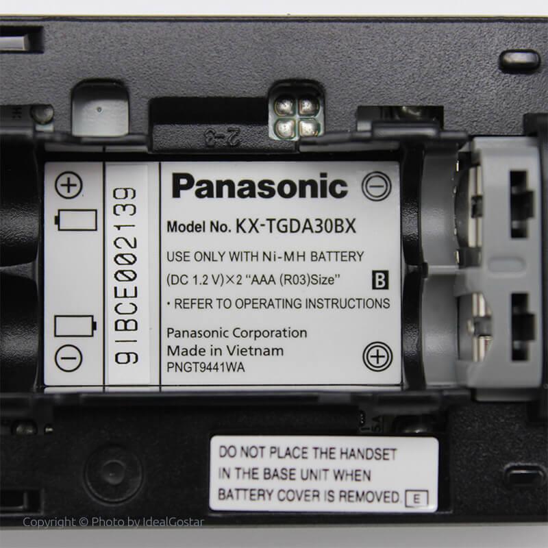 محل قرارگیری باتری گوشی تلفن بیسیم پاناسونیک KX-TGD320
