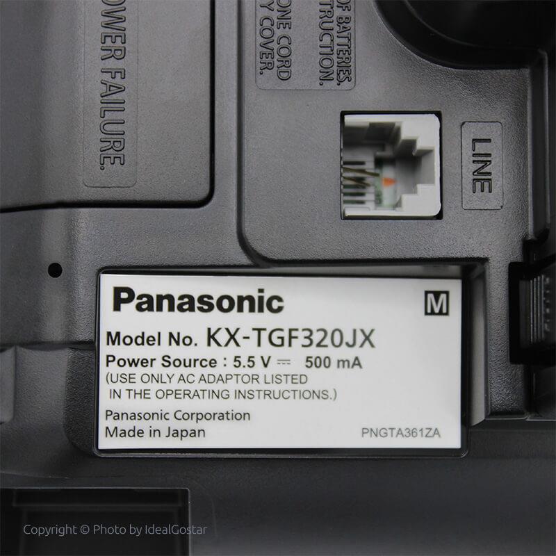 تصویر پشت تلفن بیسیم پاناسونیک KX-TGF322