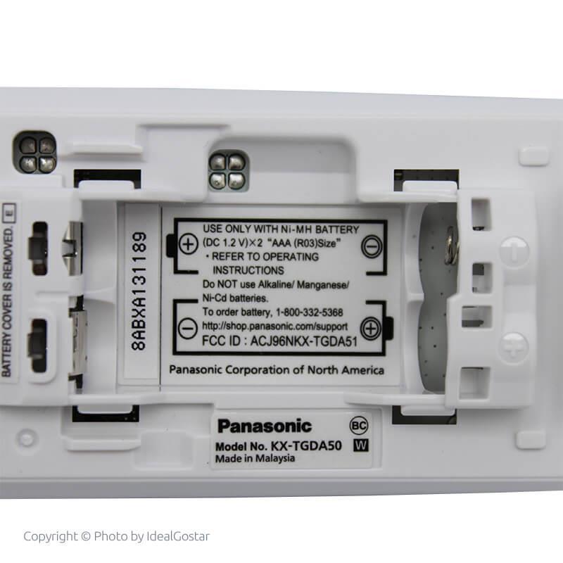 محل قرارگیری باتری گوشی تلفن بی سیم پاناسونیک KX-TGD532
