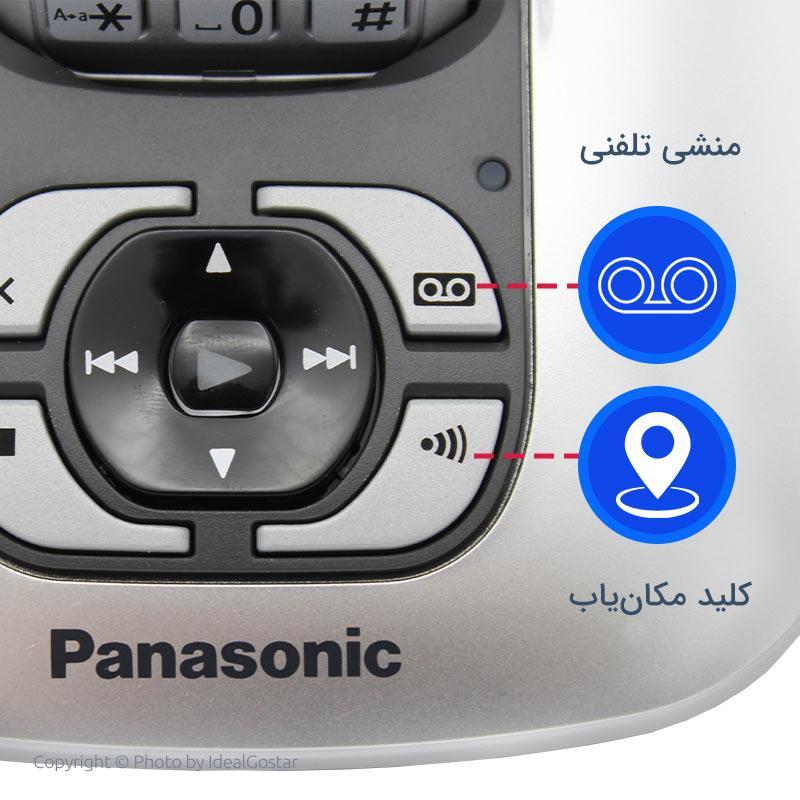 کلیدهای روی بیس گوشی بیسیم پاناسونیک KX-TG6421
